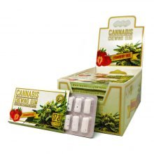 CBD Strawberry haze mint chewing gum THC free (24pcs/display)