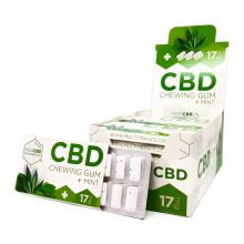 CBD  Mint Cannabis Chewing Gums THC Free (24pcs/display)