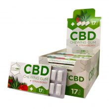 CBD Strawberry Cannabis Chewing Gums THC Free (24pcs/display)