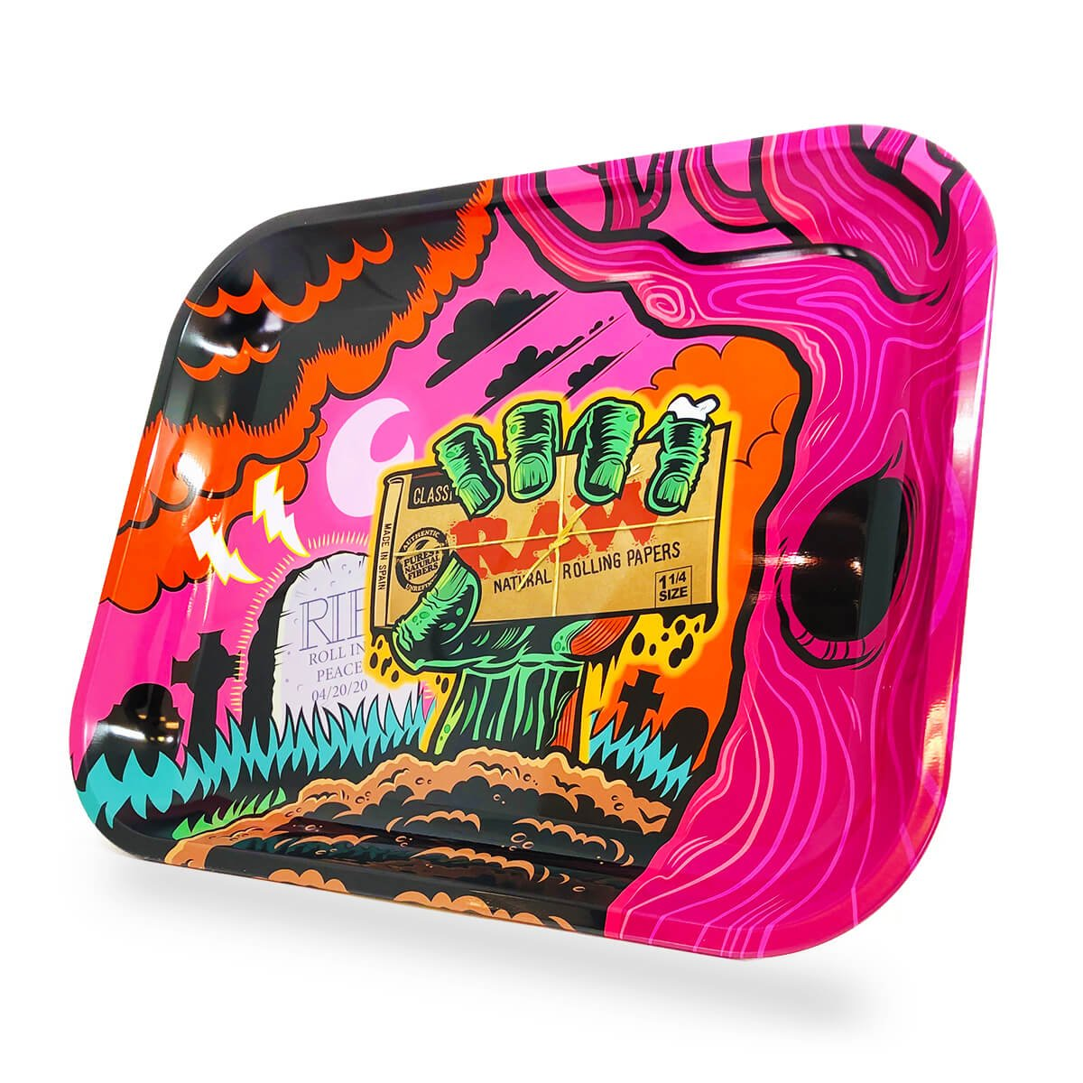 """13/"""" x 11/"""" x 12/"""" USA DEALER Zombie Large Metal Rolling Tray New Design RAW"""