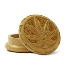 Weed leaf 3 wood grinder 50mm - 2 parts