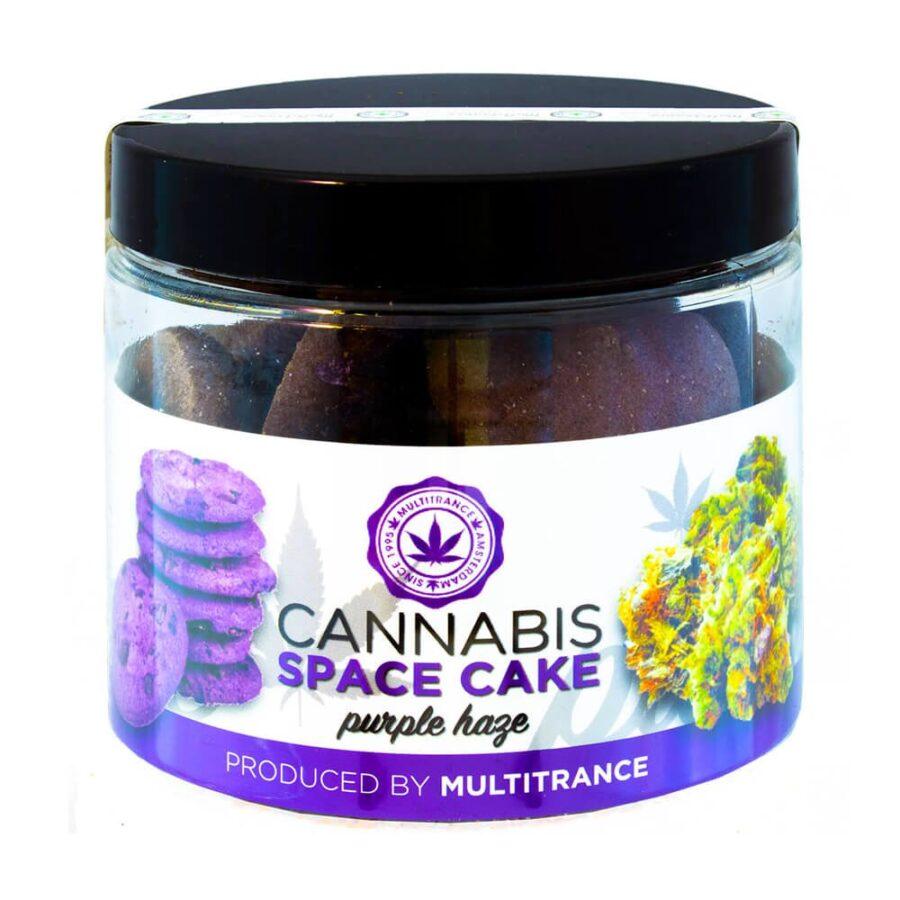Cannabis Space Cookies Purple Haze THC free (24jars/masterbox)