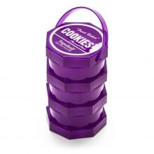 Cookies 3 Parts Purple Stacked Regular Storage Jar