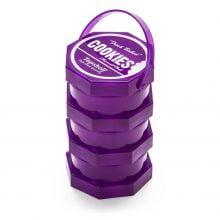 Cookies 3 Parts Purple Stacked Regular Storage Jar