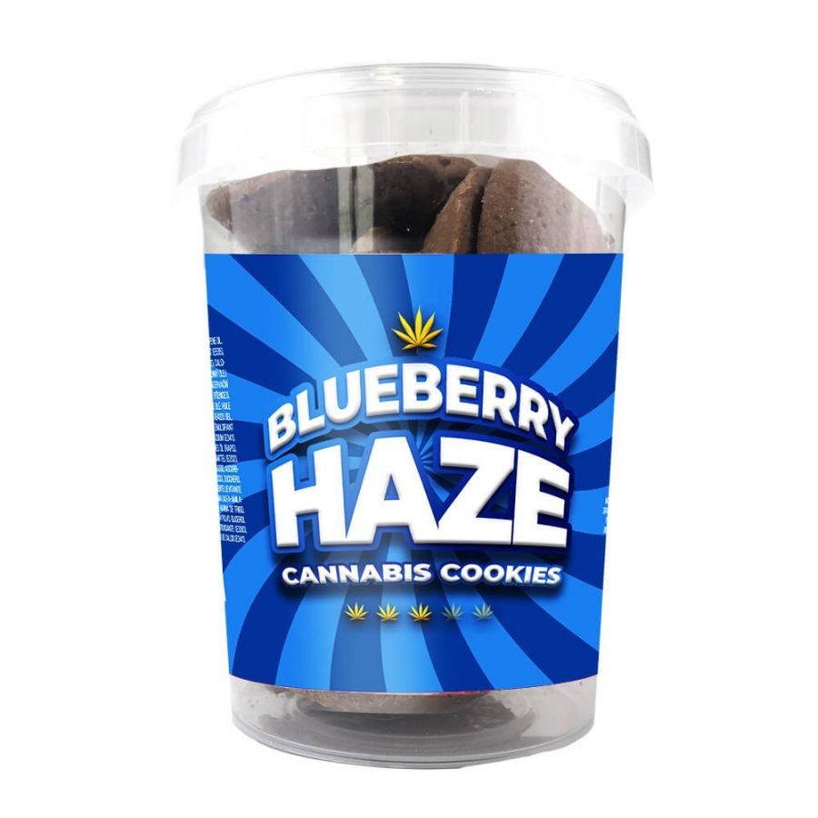 Blueberry Haze Cannabis Cookies THC Free 150g (24boxes/masterbox)