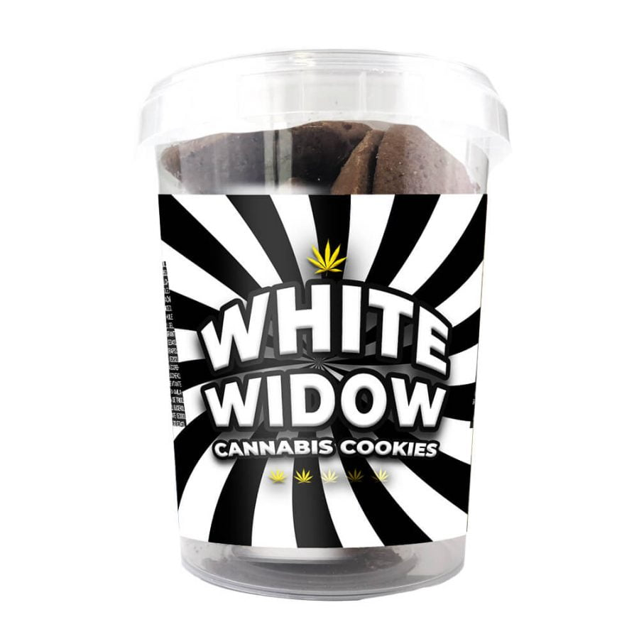White Widow Cannabis Cookies THC Free 150g (24boxes/masterbox)