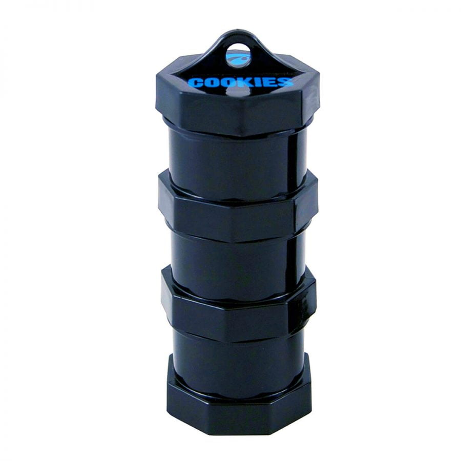 Cookies 3 Parts Black Stacked Small Storage Jar
