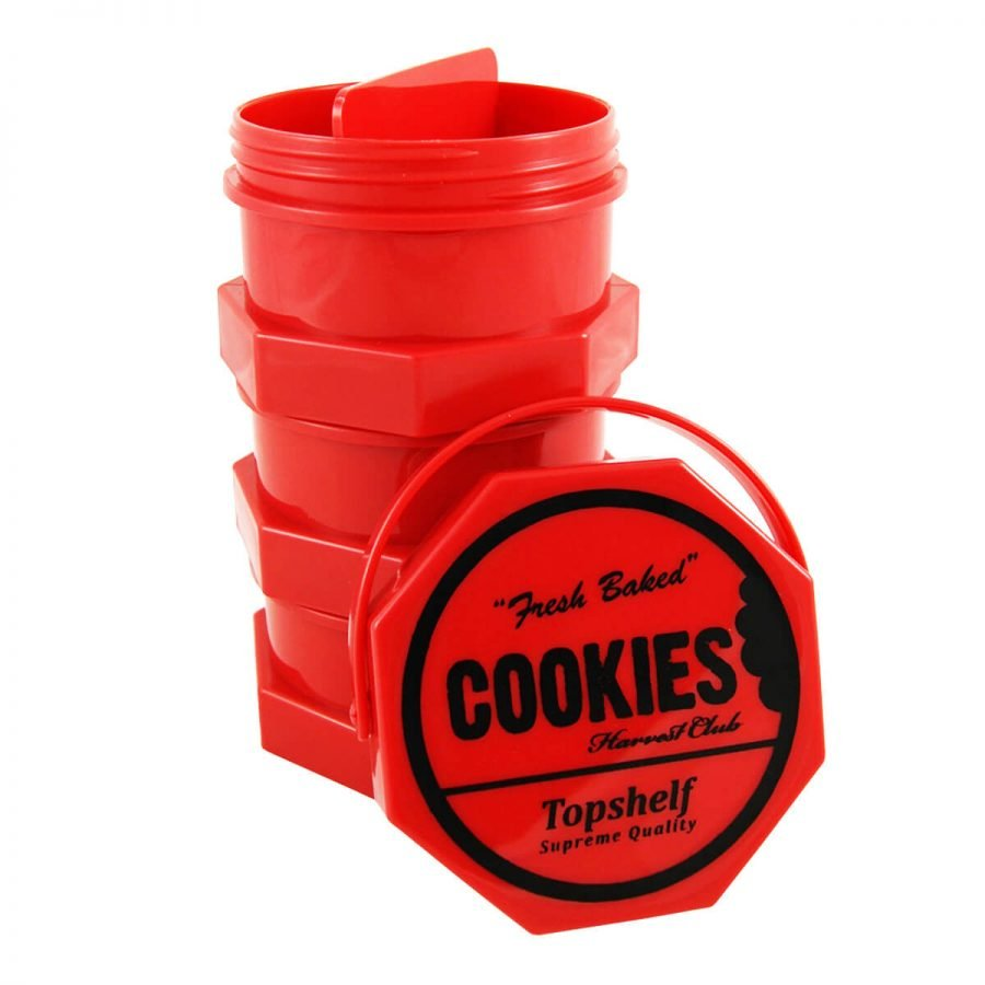 Cookies 3 Parts Red Stacked Regular Storage Jar