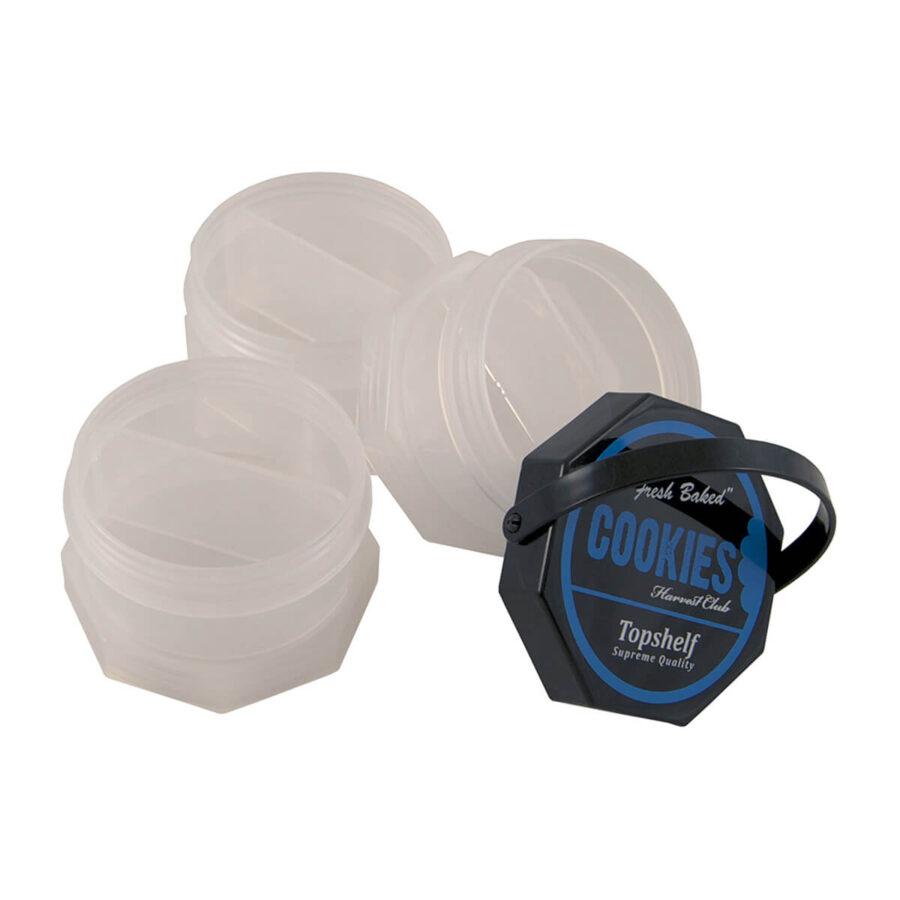 Cookies 3 Parts Transparent Stacked Regular Storage Jar