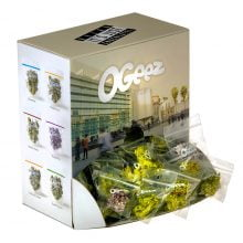 Ogeez Krunchbox Cannabis Shaped Chocolate Small Candies THC Free (120bags)