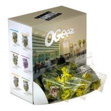 Ogeez Krunchbox Cannabis Shaped Chocolate Small Candies THC Free (120bags)