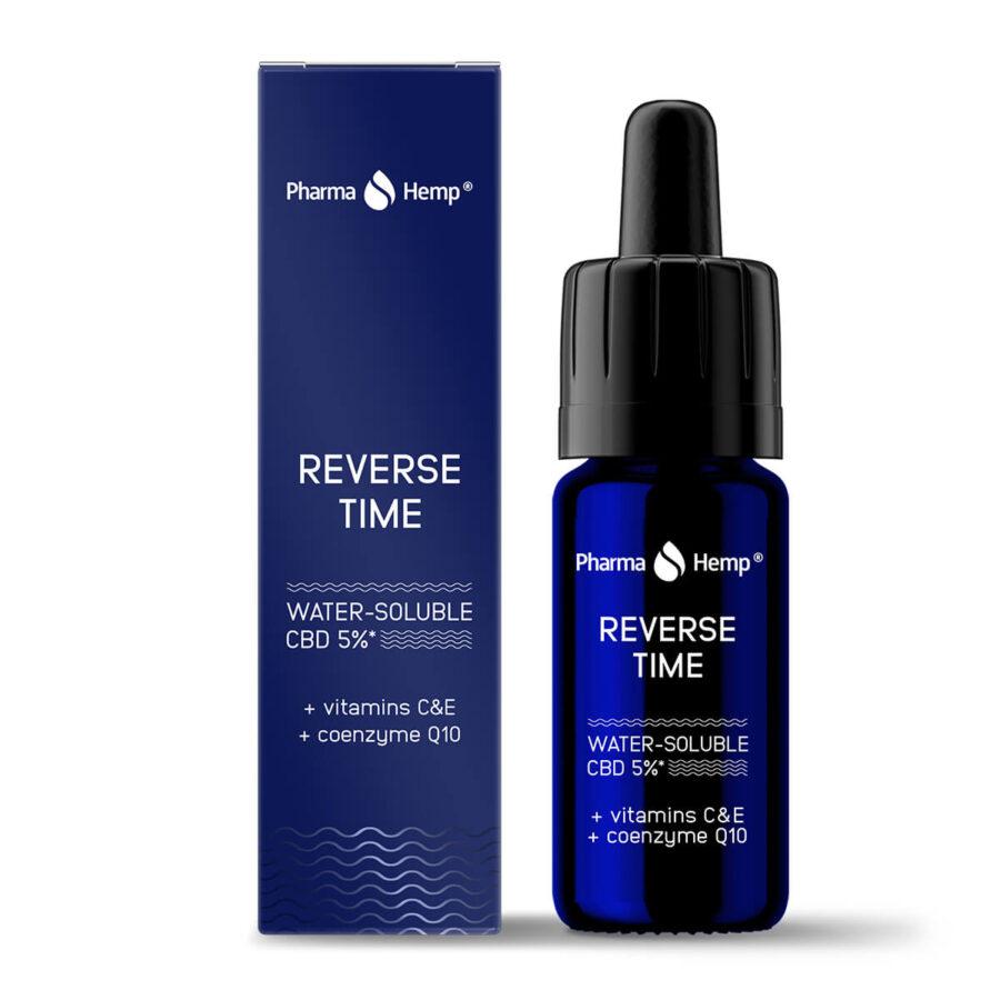Pharma Hemp Reverse Time Water Soluble CBD 5% Vitamin C, E and Coenzyme Q10