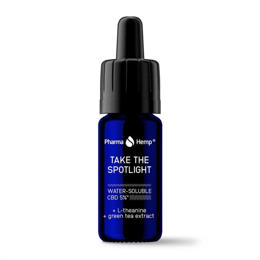 Pharma Hemp Take The Spotlight Water Soluble CBD 5% L-Theanine and Green Tea Extract