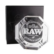 RAW Lead Free Crystal Glass Ashtray + Giftbox
