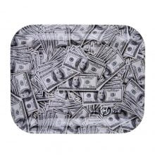 Skunk Brand Dollar Bills Metal Rolling Tray