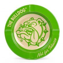 The Bulldog Original Green Metal Ashtray