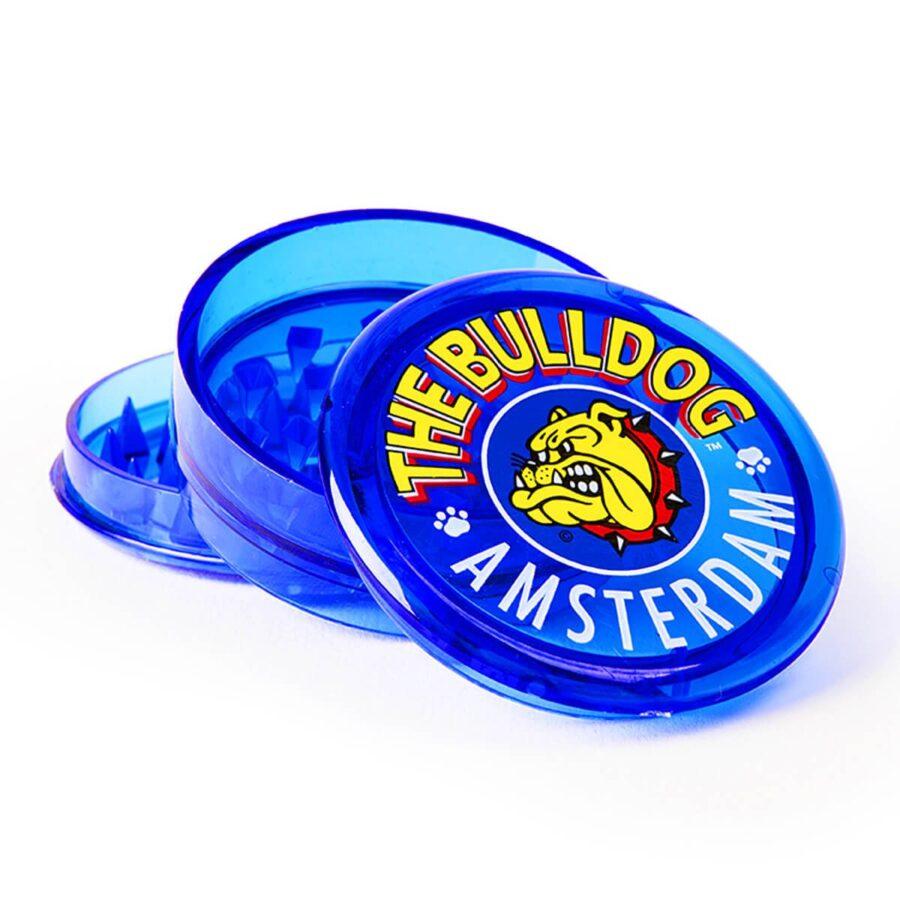 The Bulldog Original Blue Plastic Grinder 3 Parts - 60mm (12pcs/display)