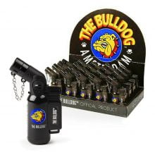 The Bulldog Original Torch Windproof Lighter Black (20pcs/display)