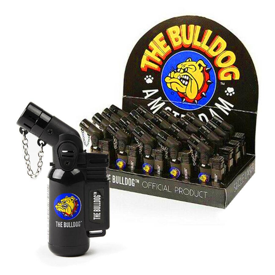 The Bulldog Original Torch Windproof Lighter Black (20pcs/display)
