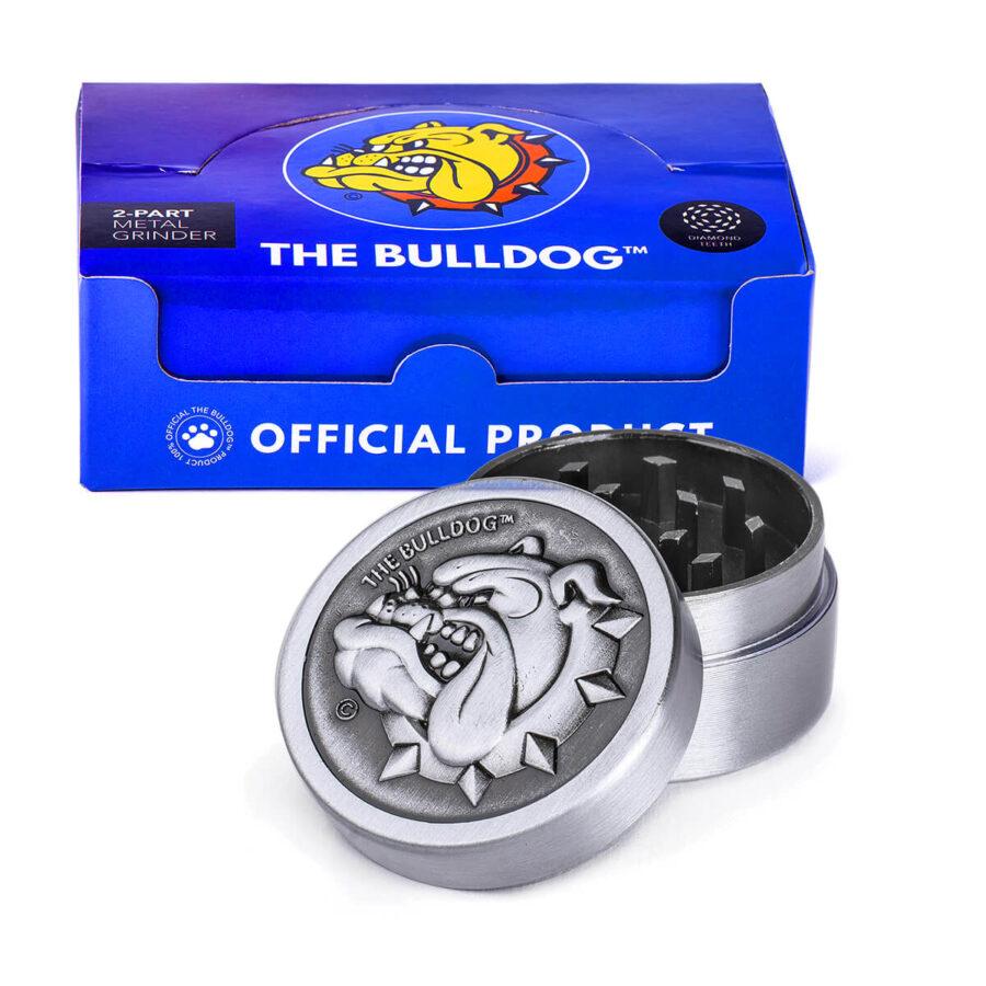 The Bulldog Original Metal Grinder 35mm  - 2 parts (12pcs/display)