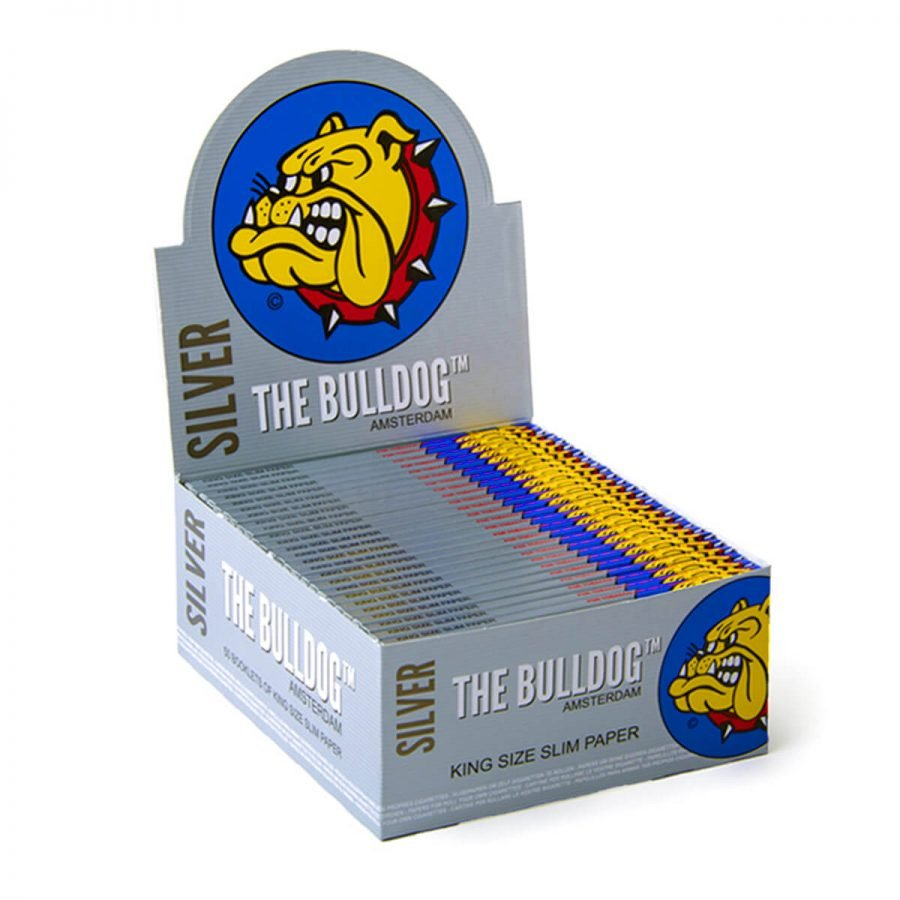 The Bulldog Original Silver King Size Slim Rolling Papers (50pcs/display)