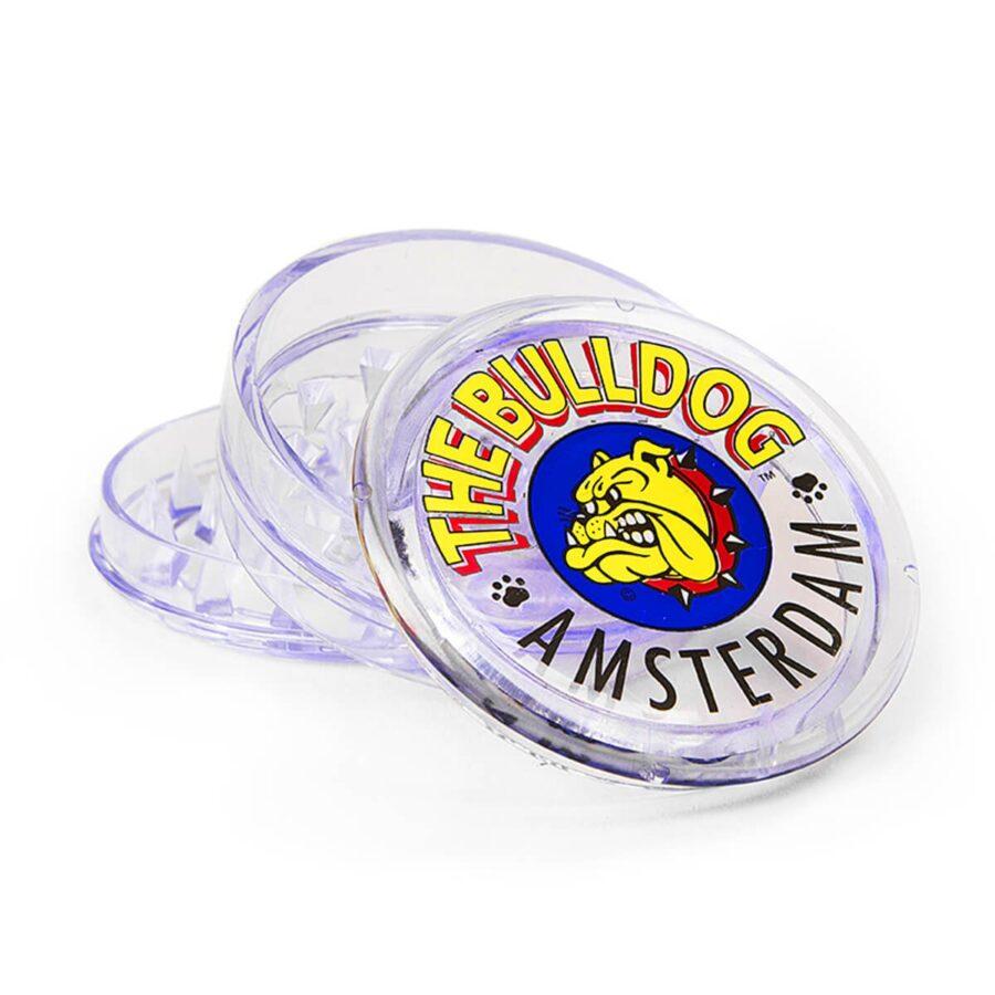 The Bulldog Original Transparent Plastic Grinder 3 Parts - 60mm (12pcs/display)