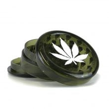Weed Leaf Plastic Grinder Petrol 3 parts - 50mm (12pcs/display)