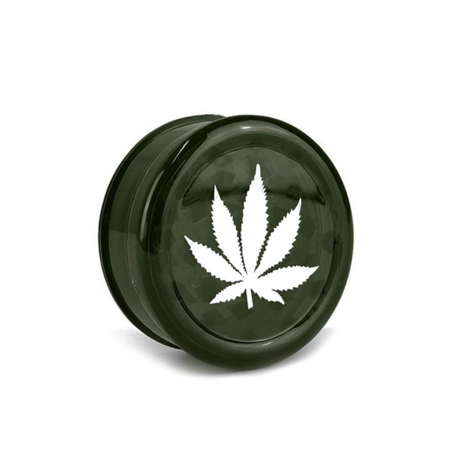 Weed Leaf Plastic Grinder Petrol 3 parts - 50mm (12pcs/display)