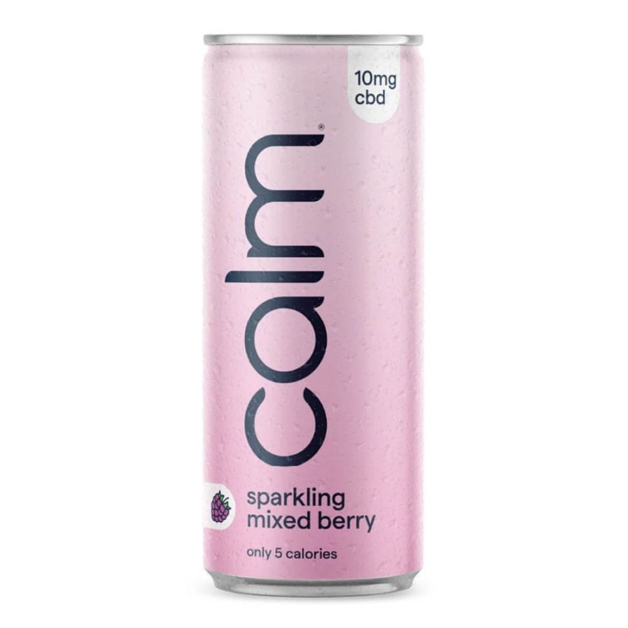 Calm Mixed Berry 10mg CBD Sparkling Water 250ml (24cans/masterbox)