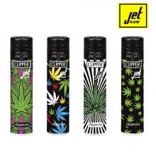 Clipper Lighters Psychedelic Weed Jet Flame (48pcs/display)