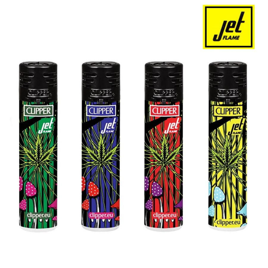 Clipper Lighters Colorful Weed Jet Flame (48pcs/display)