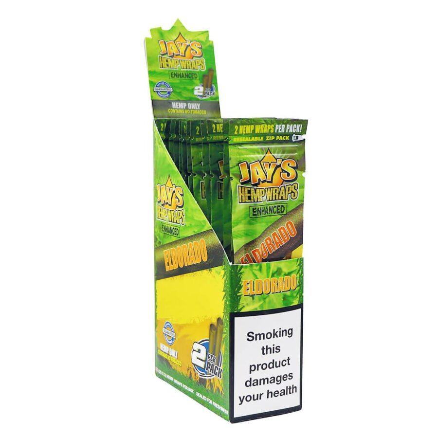 Juicy Jay's Hemp Wraps Eldorado Pineapple Shake with Infused Terpenes (25pcs/display)