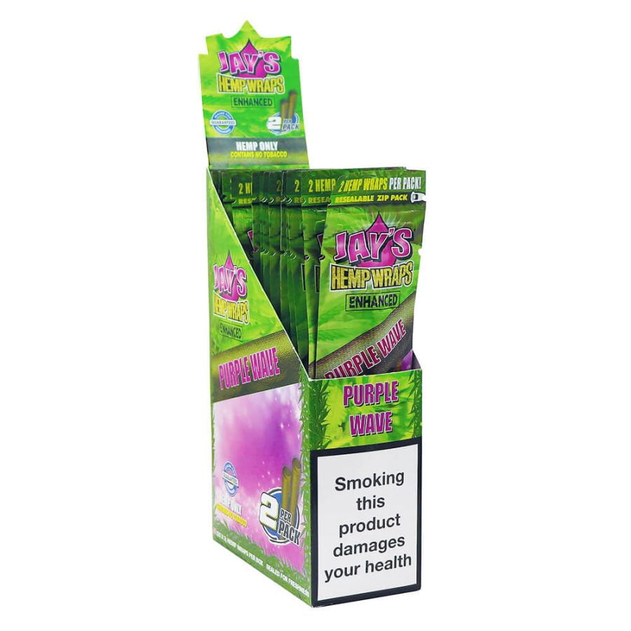 Juicy Jay's Hemp Wraps Purple Wave Purple Gelato with Infused Terpenes (25pcs/display)