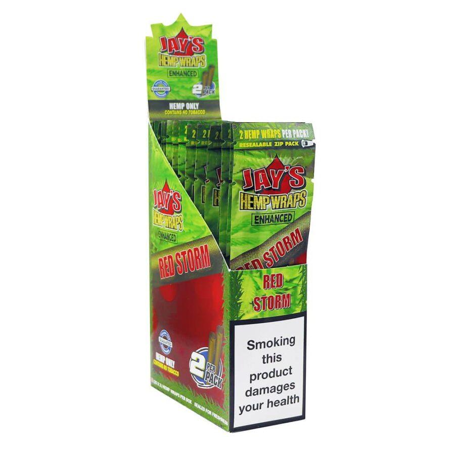 Juicy Jay's Hemp Wraps Red Storm Cherry Pie with Infused Terpenes (25pcs/display)