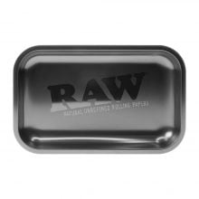 RAW All Black Medium Metal Rolling Tray