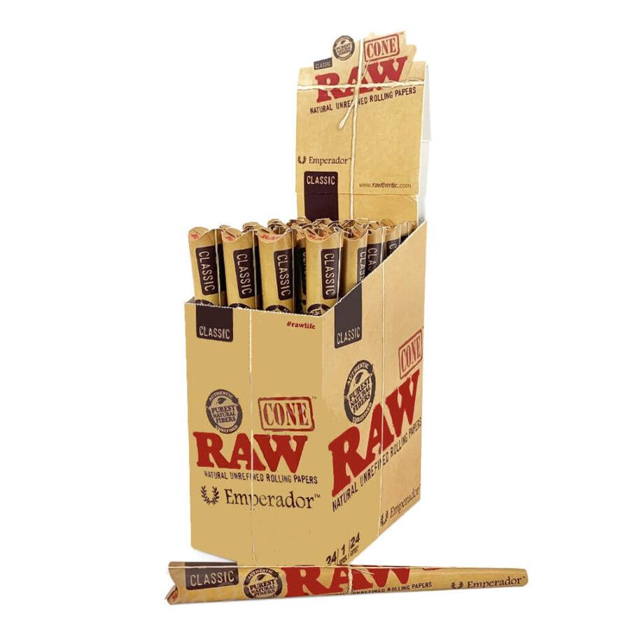 RAW Emperador Unrefined Cones  (24pcs/display)