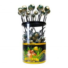 Cannabis lollipops Salted Caramel THC free (100pcs/display)