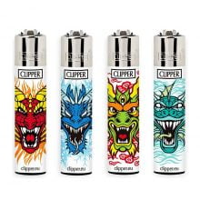 Clipper Lighters Dragons 4 (24pcs/display)