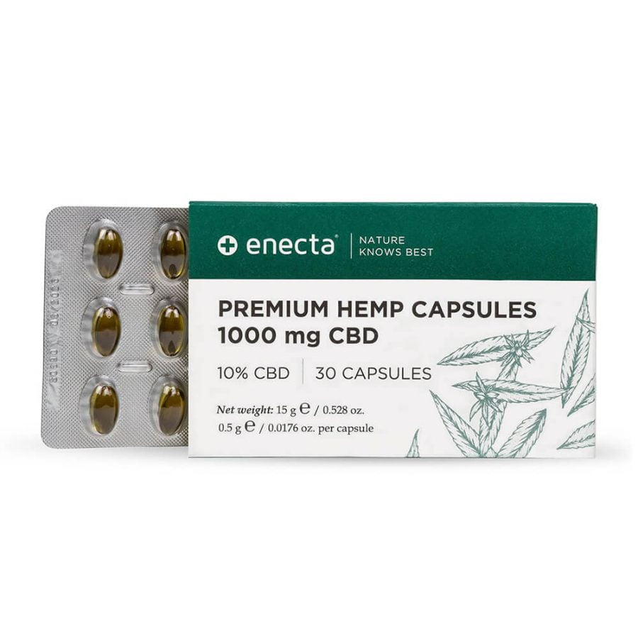 Enecta Premium Hemp Extract 1000mg CBD Capsules