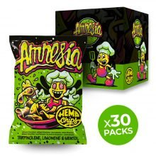 Hemp Chips Amnesia Artisanal Cannabis Chips THC Free (30x35g)