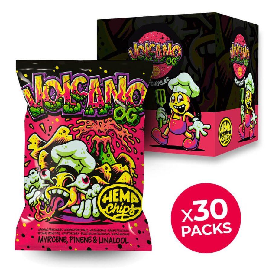Hemp Chips Volcano OG Artisanal Cannabis Chips THC Free (30x35g)