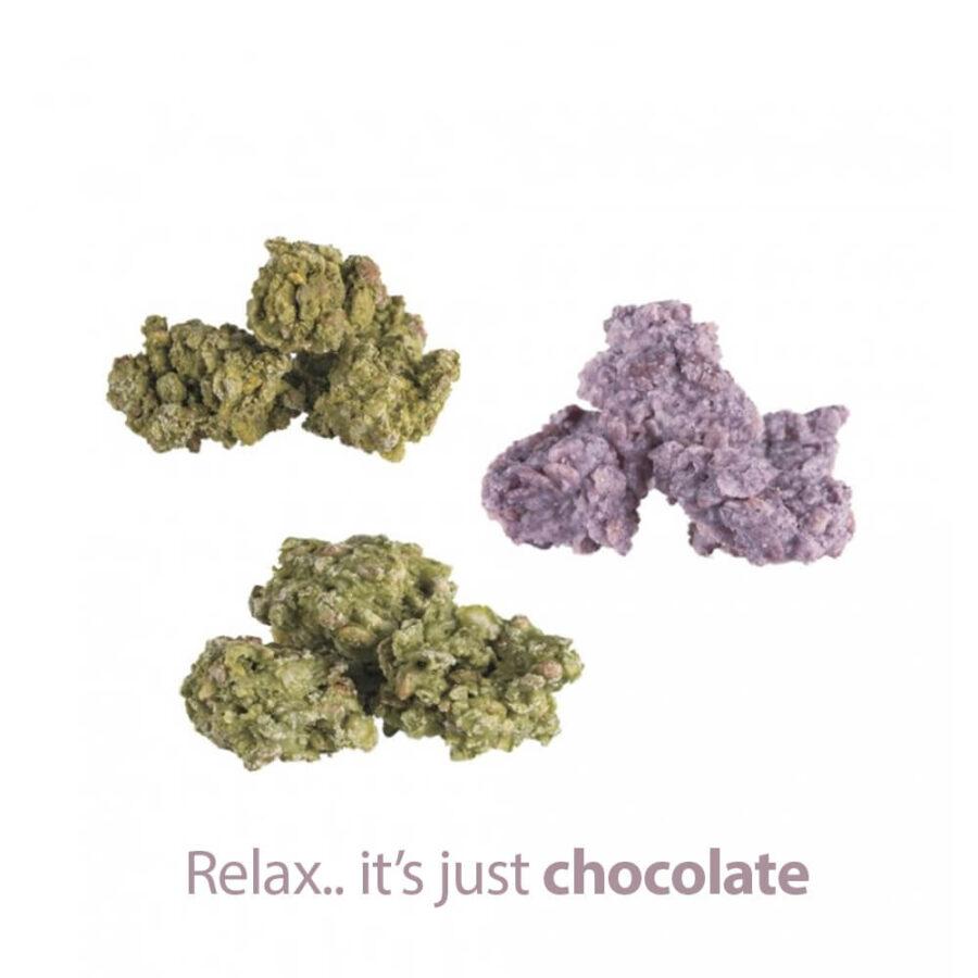 Ogeez Krunchbox 25mg CBD Cannabis Shaped Chocolate Small Candies THC Free (120bags)