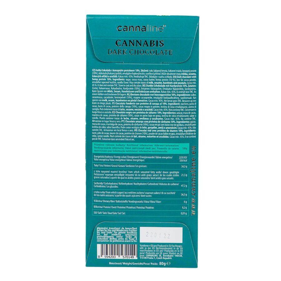 Cannaline Cannabis Dark Chocolate THC Free (20x80g)