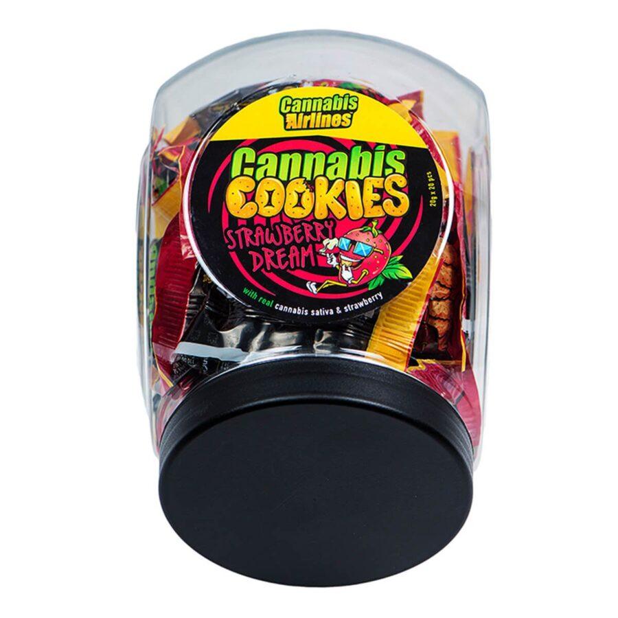 Cannabis Airlines Cannabis Cookies Jar Strawberry Dream THC Free (400g)