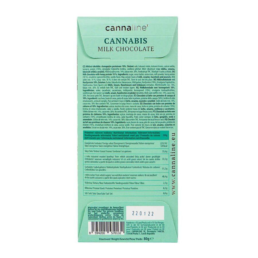 Cannaline Cannabis Milk Chocolate THC Free (20x80g)