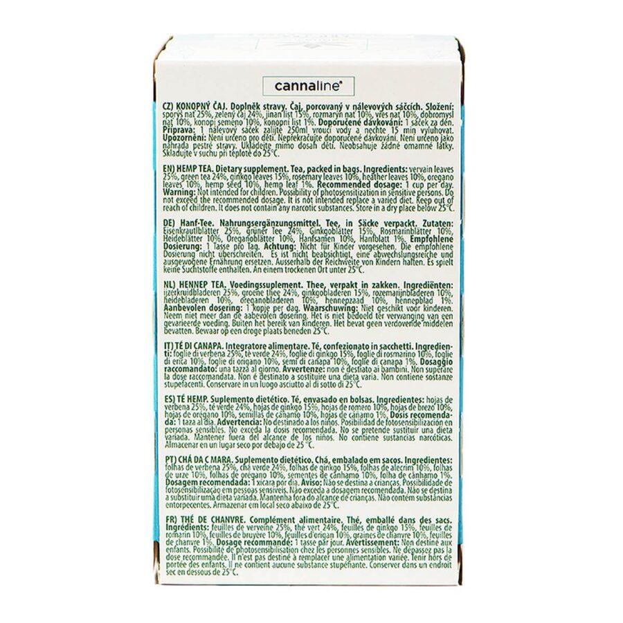 Cannaline CBD Hemp Tea Memory and Focus THC Free 30g (10packs/lot)