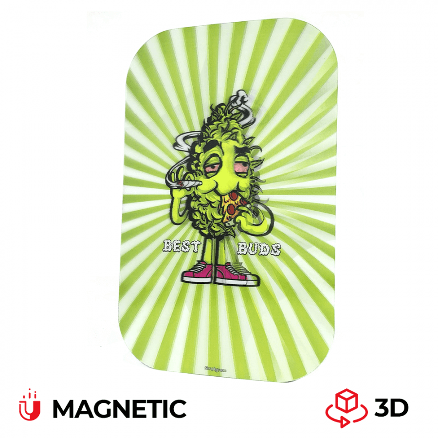 Best Buds Magnetic 3D Cover for Large Rolling Tray Pizza