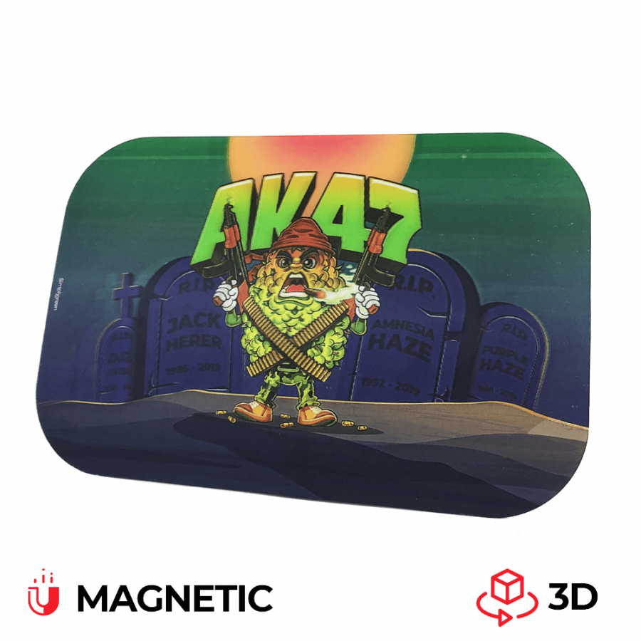 Best Buds Magnetic 3D Cover for Medium Rolling Tray AK47