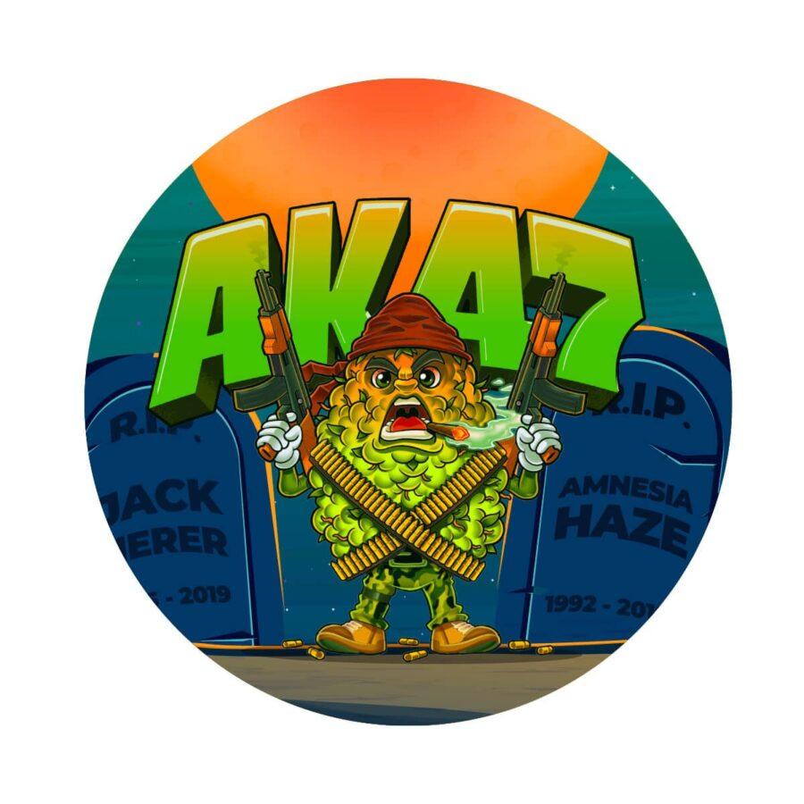 Metal Grinder Best Buds AK47 4 Parts - 50mm (12pcs/display)