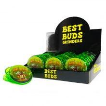 Best Buds Plastic Grinders Gorilla Glue 3 Parts - 50mm (12pcs/display)